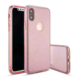 Wholesale Iphone Case Shimmering - PHONE CASE For iphone oppo samsung HUAWEI LG ZTE MOTO NOKIA VIVO MOTO COOLPAD 3 IN 1Glitter case shimmering powder fashion beautiful PC+TPU