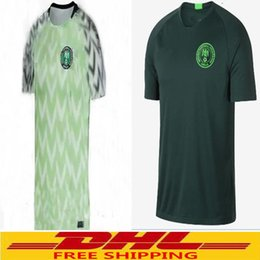 Wholesale Wholesale Quality Shirts - DHL free shipping Nigeria soccer jerseys 2018 world cup home away 18 19 Nigeria football shirts customize top quality welcome to order