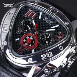 Wholesale Famous Triangles - Wholesale-Original JARAGAR Men Watch Triangle Big Dial Luxury Famous Brand Watches Waterproof Men Clock Stainless Steel Wristwatch