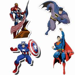 Pegatinas de superman 3d online-4 de acero como superhéroes, Iron Man, Capitán América, Batman, Superman, cuatro adhesivos de pared de diferentes personajes