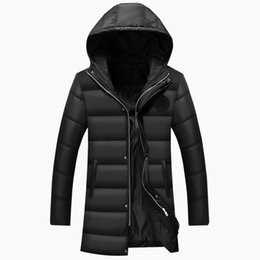 snow parkas Promo Codes - 2017 New Fashion Winter Jacket Men Parkas High Quality Snow Hooded Warm Coats Casual Warm Long Jacket Coat Male M592