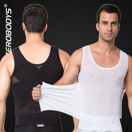 083e213022 Body Shaper Powerful Mens Body Shaper High Powernet Vest Nero Bianco Body  Girdles Men Waist Cincher Shape Wear shaper del corpo dell alta vita nera  ...