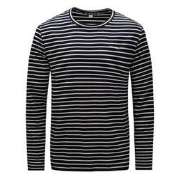 61b326b62d8 mens long sleeve striped t shirts 2019 - Wholesale 2018 Simple Mens Big And  Tall Breathable