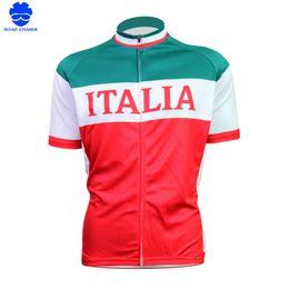 Wholesale 5xl Bicycle Jersey - New Mens Cycling Jersey Comfortable Bike Bicycle Shirt Italian Flag Logo SportsWear Cyclingclothing Size 2XS-5XL