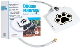 Wholesale iron materials - Doggie Fountian Pet Automatic Water Dispenser Iron Material PVC Skin Tube Drinker Dogs Outdoors Water Drinking Machine 65jd Y