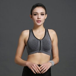cdb62bff62 Women Zipper Bra Push Up Crop Top Seamless Sexy Shakeproof Underwear M  -Xxxl Big Size Wholesale Brassiere