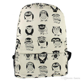 f0aa5cfb6d84 Wholesale- Hot Sale Women Youth Backpacks Canvas Travel Satchel Shoulder  Bag Backpack School Rucksack Owl backpacks for teenage girls gift  inexpensive gifts ...