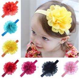 Bandes de cheveux Accessoires Bébé Enfants Filles Toddler Nouveau-Né Creux mousseline de soie bord ondulé Hairband Enfants Bébé Fille Bandeau ? partir de fabricateur