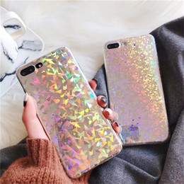 Wholesale Plastic Cooler Bag - Colorful Phone Case For iPhone x Cool Laser Rainbow Shining Case For iphone 8 7 6 6s Plus Soft TPU Back Cover Bags Coque Capa