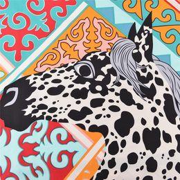 Luxe France Grand Carré Imprimé En Soie Châles Femmes Marque Echarpe Echarpe En Soie Animal Orange Twill Châle Dropshipping 130 * 130 ? partir de fabricateur