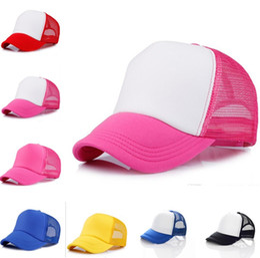 3b600eb1a73 14 colors Trucker Cap Adult Mesh ball Caps Blank Trucker Hats Snapback Hats  Accept Custom Baseball cap for children Sun hat 500pcs T1C331