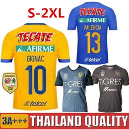 Wholesale black star shirt - 6 stars 2017 2018 TIGRES UANL Soccer Jersey 2018 GIGNAC Home Blue AQUINO DAMIAN H.AYALA VALENCIA VARGAS TIGRES UANL Football Shirt