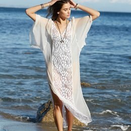 5fa3119b8ccdf Bikini Cover Up Lace Hollow Crochet Swimsuit Beach Dress Women 2018 Summer  Ladies Cover-Ups Bathing Suit Beach Wear Tunic