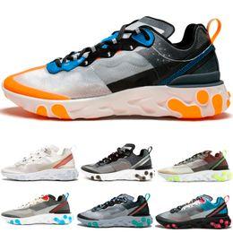 cheap for discount 99bd6 53936 luci di direzione arancioni Sconti React Element 87 Undercover Running Shoes  Sail Light Bone Total Orange
