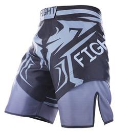 Yeni 2018 MMA Yüksek Kaliteli Polyester Gevşek MMA Mücadele Spor Şort Muay Thai Erkekler Şort cheap men s mma shorts nereden erkekler mma şortları tedarikçiler