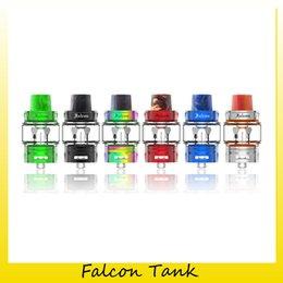 Wholesale f1 metal - 100% Origianl Horizontech Falcon Tank 7ML Bubble Glass Version Top Refilling Sub Ohm Atomizer For Authentic Horizon F1 Coil Head