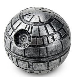 Wholesale Milling Cutter Ball - New three layer zinc alloy metal smoke grinder, tobacco cutter, ball mill smoke apparatus