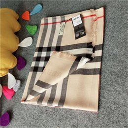 Wholesale Scarves Designers - Luxury Scarf Women Autumn Cashmere Scarfs 180x70cm Winter lattice designer brand scarf Shawl Ladies Warm Scarves
