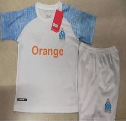 Wholesale marseille football kit - GOMIS Maillot om de Foot 2019 Enfants Equipe Olympique de Marseille Children Kid Soccer Jersey L.GUSTAVO youth boys football kits 2018 19