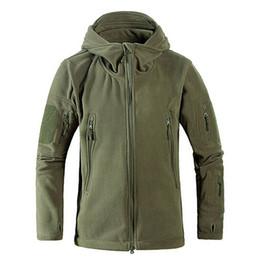 Hombres a prueba de viento táctico tad polar tiro montaña micro térmica polar polar chaqueta con capucha ejército ropa transpirable militar S18101805 desde fabricantes