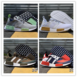Wholesale perfect beige - 2018 New Arrive Original NMD R1 Primeknit PK Perfect Best Quality Sneakers Fashion Running Shoes NMD Runner Primeknit Sneakers