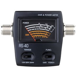 2019 venta al por mayor del metro eléctrico Freeshipping Nueva 200W portátil SWR Standing Wave Ratio Watt medidor de potencia para HAM Mobile VHF UH monofásico Energy Meters