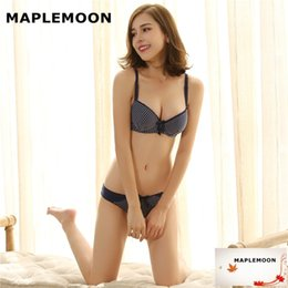 Wholesale Students Cotton Bra - Package summer autumn Department contracted student party pure cotton girl bra set, thin student underwear Bra & Brief Set