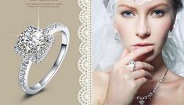 горячая бриллиантовое кольцо топ продажи 925 стерлингового серебра обручальное кольцо с кубическим цирконием кольцо подходит костюм femail Pandora ювелирных изделий оптом от