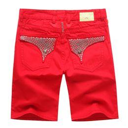 4 colores nuevos pantalones vaqueros cortos de Robin para hombre Jean diseñador mezclilla pantalones vaqueros con alas de águila bordado de los hombres pantalones casuales Ss talla 32-42 desde fabricantes