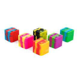 Top-Qualität Großhandel quadratischen Siliconbehälter FDA-Silikongläser tupft 11ml Antihaft-Silikon-Boxen für Wachsbehälter 30mm x 30mm von Fabrikanten