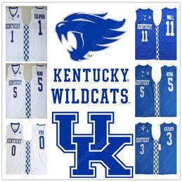 Wholesale Fox 11 - 2018 Kentucky Wildcats COLLEGE NCAA Stitched 11 John Wall De'Aaron Fox 0 John Calipari 1 Swingman Edrice Adebayo 3 jerseys Malik Monk 5