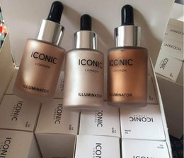 Wholesale Glowing Natural Makeup - Dropshipping 2017 new arrival ICONIC LONDON ILLUMINATOR liquid highlight highlighters makeup glow shine original original glow shine