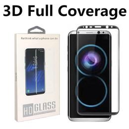 2019 iphone flim avant Pour Galaxy S10 S10e Note 9 S9 S8 Plus Protecteur d'écran incurvé en verre trempé plein écran de 0,2MM 3D Pour bord S6 Bord S7 Note 8