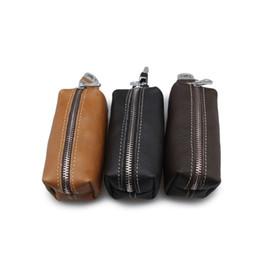 Wholesale custom wallets wholesale - Fashion Genuine Leather Housekeeper Small Key Holder Hasp Mens Key Chain Wallet Keys Holder Portable Organizer (custom available