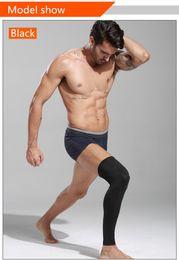 Wholesale Basketball Leg Gear - 2018 Professional lycra fabric kneecap lengthen leg guard Breathable basketball protective gear anti-skid, sun protection.sell