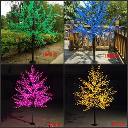 2019 fiore m LED impermeabile outdoor paesaggio giardino peschiera lampada simulazione 1.5 ~ 3 metri / 480 ~ 2304 LED ciliegio albero luci da giardino arredamento fiore m economici