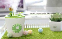 Wholesale Spa Purifier - Ceramic Flowerpot Humidifier Aromatherapy Diffuser Essential Oil Aroma Diffuser DIY Mini Garden Home Office Car Spa Mist Maker Air Purifier