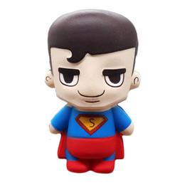 giocattoli ironman Sconti The Avenger Marvel Hero Superman Giocattoli Cartoon Squishy Spremere lento Rising Ironman Hulk Spiderman Regalo di Natale per i bambini