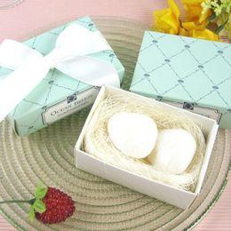 FEIS al por mayor personalizado regalo hecho a mano envasado jabón en forma de concha aceites de planta Jabones de baño Playa favor de la boda regalos de boda baby shower desde fabricantes