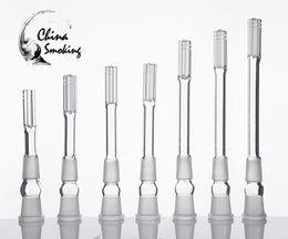 2019 tubos de água de vidro fosco Baixo Downstem De Vidro De Borosilicato Com Seis Conector Armado 18mm Feminino Para 18mm Masculino Flange De Junta De Gota Descendente 18F 18M Tubo De Água De Vidro tubos de água de vidro fosco barato