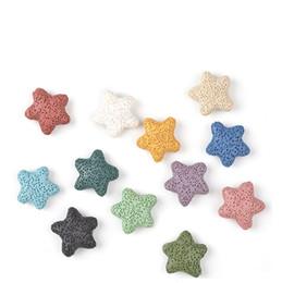 Estrellas de mar Natural Lava Rock Stone Beads DIY Aceite Esencial Difusor Colgantes Joyería Collar Pendientes que hacen desde fabricantes