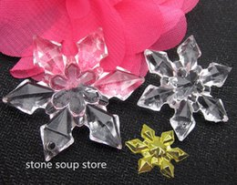 Wholesale wholesale clear acrylic christmas ornaments - 3-20pcs Clear Acrylic Snowflake Christmas Pendant Wedding Hanging Ornament Craft Decoration Diy Accessories Gold Snowflake