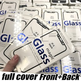 Wholesale Body 3d - For Iphone X Screen Protector Full Coverage Tempered Glass Film Edge For Apple X 8 7 6S Plus With Package