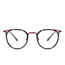 Wholesale Korean Eyeglasses - Plain eyeglassesSuper light round eyeglasses of Korean EditionRetro large faceFemale Korean eyeglass