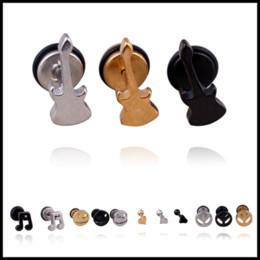 Wholesale Black Metal Earrings - Bulk Lots 53 Designs Titanium Steel Metal Small Studs Hip Hop Alloy Earrings Golden Sliver Black Punk Styles Earrings