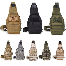 Wholesale jogging chest pack - Tactical Backpack Military Sport Pack Backpack For Camping Hiking Trekking Rover Sling Pack Chest Pack Support FBA Drop Shipping G580F