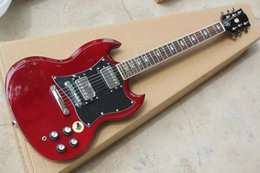 Wholesale Guitarra Custom Shop - Free Shipping Factory custom shop New high qualityHigh-quality red sg custom electric guitar guitarra Chrome Hardware 914