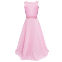 Affascinante con pizzo Kid Girl grado superiore elegante Tulle prima comunione Dress Party Long Dress Flower Girl Dresses da i vestiti dalla ragazza del fiore del corallo blu marino fornitori