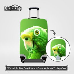 Wholesale Parrot Covers - Travel On Road Luggage Cover Cute Parrot Printing Dust Rain Waterproof Suitcase Protective Covers Apply To 18-30 Inch Trolley Drop Shipping