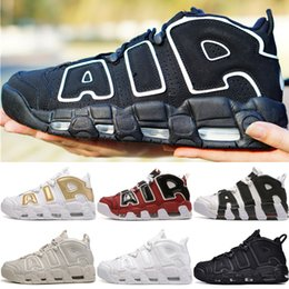 Altro Uptempo Tri-Color QS Men Triple White Bsidian Bordeaux Mens Mens Scarpe da basket 3M Scottie Pippen Sport Trainers Sneakers da uomo cheap more golf da più golf fornitori
